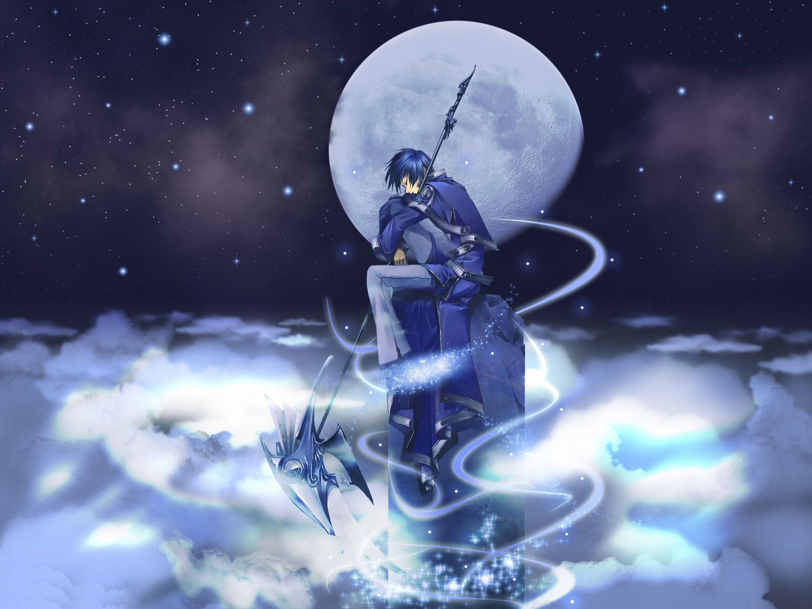 Anime Blue Moon Man